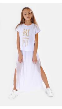футболка+юбка-лосины