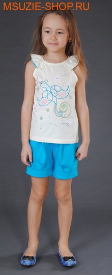 Милашка Сьюзи блузка. 104 голубой ростДжемпера, рубашки, кофты<br><br>