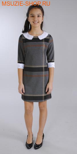 Флер де Ви платье. 140 серый ростСарафаны/платья <br><br>
