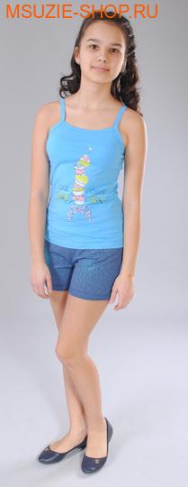 Милашка Сьюзи майка+шорты. 122 голубой ростКомплекты<br><br>