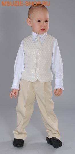 Милашка Сьюзи жилет+галстук. 104 молочный ростНарядная одежда<br><br>