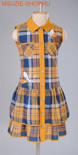 Милашка Сьюзи платье. 140 горчичный ростПлатья <br><br>
