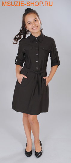 Милашка Сьюзи платье. 152 тем.коричневый ростСарафаны/платья <br><br>