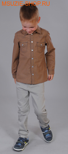 Милашка Сьюзи рубашка. 104 горчичный ростДжемпера, рубашки, кофты<br><br>