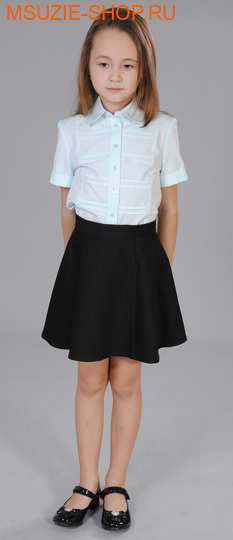 Милашка Сьюзи блузка. 128 св.голубой ростБлузки<br><br>
