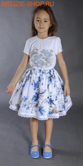 Флер де Ви юбка. 134 белый ростосень-зима<br><br>