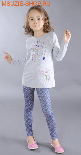 Флер де Ви блузка. 98 серый ростДжемпера, рубашки, кофты<br><br>