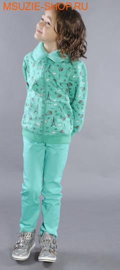 Флер де Ви куртка. 104 зеленый (рисунок) ростДжемпера, рубашки, кофты<br><br>