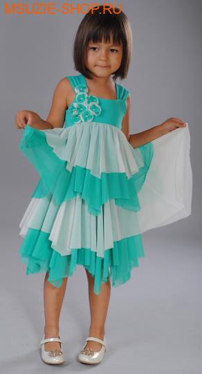 Флер де Ви платье. 134 зеленый ростосень-зима<br><br>
