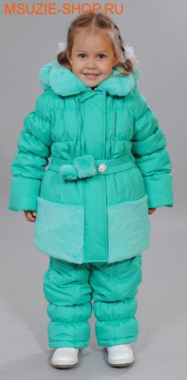 Флер де Ви куртка+п/комбинезон (зима). 104 зеленый ростосень-зима<br><br>