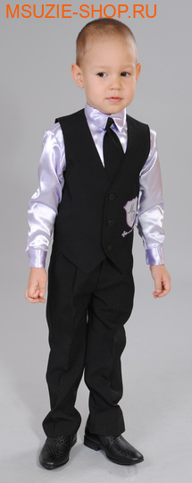 Милашка Сьюзи жилет+сорочка+брюки+галстук. 104 черный ростНарядная одежда<br><br>