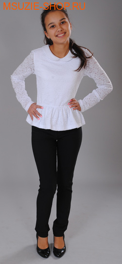 Милашка Сьюзи блузка. 134 белый ростБлузки<br><br>