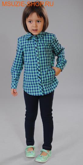 Милашка Сьюзи блузка. 104 св.зеленый (круп.клетка) ростДжемпера, рубашки, кофты<br><br>