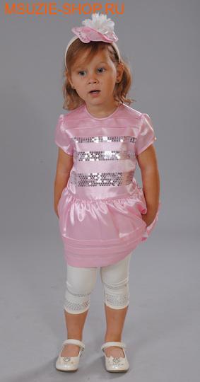 Милашка Сьюзи платье+лосины+ободок. 86 розовый ростнарядная одежда<br><br>