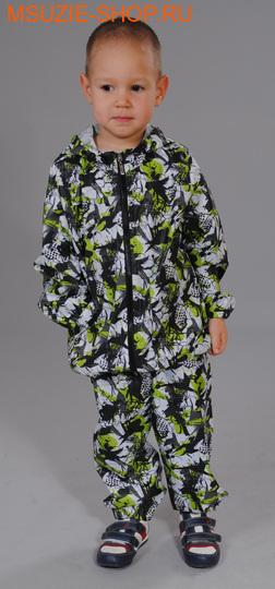 Милашка Сьюзи ветрозащитная куртка. 104 черно-салат ростВесна-лето<br><br>