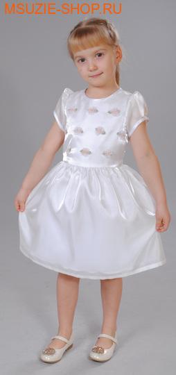 Милашка Сьюзи платье. 104 белый ростнарядная одежда<br><br>