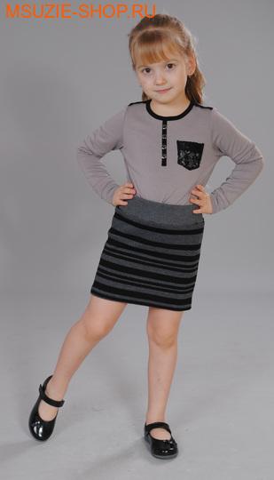 Милашка Сьюзи юбка. 104 серый ростБрюки, юбки  <br><br>