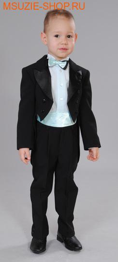 Милашка Сьюзи фрак+брюки+сорочка. 104 черный (св.бирюза) ростНарядная одежда<br><br>