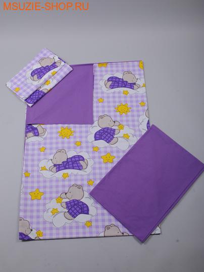 Милашка Сьюзи постельное белье 1,5 сп. КПБ 1,5 спал фиолет (мишки) ростПостельное белье<br><br>
