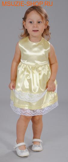 Милашка Сьюзи платье+болеро. 74 желтый ростНарядные платья <br><br>
