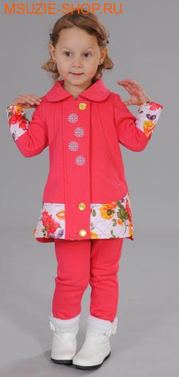 Милашка Сьюзи пальто+брюки. 104 коралл (бел) ростКомплекты<br><br>