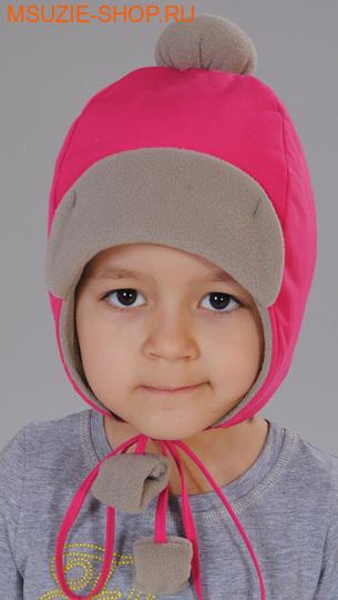 Милашка Сьюзи шапка. 104 ог 50 фуксия+беж ростГоловные уборы,варежки,перчатки <br><br>
