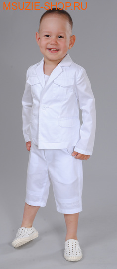 Флер де Ви пиджак. 104 белый ростДжемпера, рубашки, кофты<br><br>