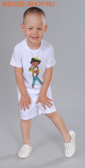 Флер де Ви футболка. 98 белый ростДжемпера, рубашки, кофты<br><br>