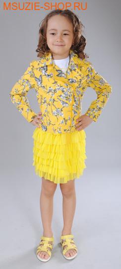 Флер де Ви жакет. 140  желтый (рисунок) ростВесна-лето<br><br>