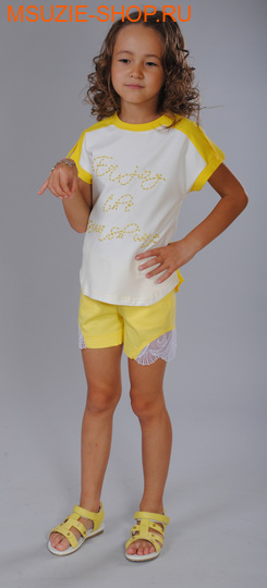 Флер де Ви шорты. 104 желтый ростБрюки, юбки  <br><br>