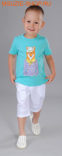 Флер де Ви футболка. 98 бирюза ростДжемпера, рубашки, кофты<br><br>