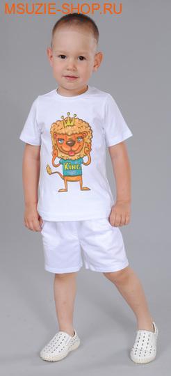 Флер де Ви футболка. 74 белый ростДжемпера, рубашки, кофты<br><br>