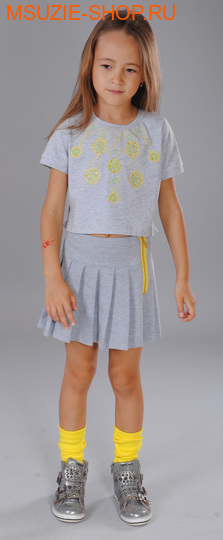 Флер де Ви блузка. 122 желтый ростДжемпера, рубашки, кофты<br><br>
