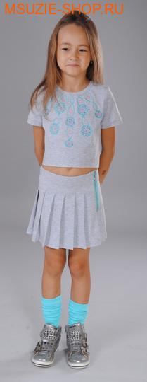 Флер де Ви блузка. 122 бирюза ростДжемпера, рубашки, кофты<br><br>