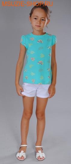 Флер де Ви футболка. 92 бирюза (рисунок) ростДжемпера, рубашки, кофты<br><br>