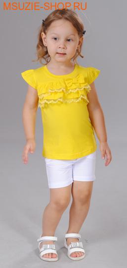 Флер де Ви футболка. 98 желтый ростДжемпера, рубашки, кофты<br><br>