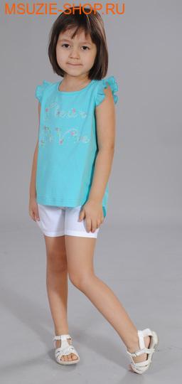 Флер де Ви блузка. 104 бирюза ростДжемпера, рубашки, кофты<br><br>