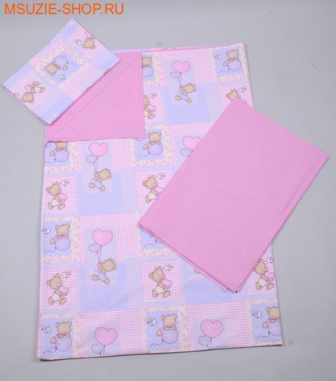 Милашка Сьюзи комплект 1,5 спальный. КПБ 1,5 спал розовый (мишки) ростПостельное белье<br><br>