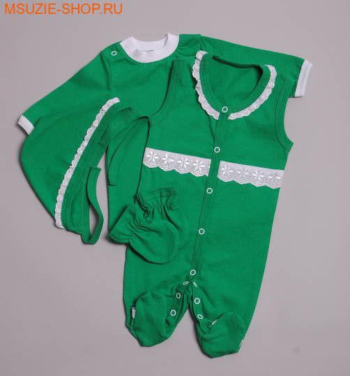 Милашка Сьюзи комплект. 56 зеленый росткомплекты для выписки,крестильные наборы<br><br>