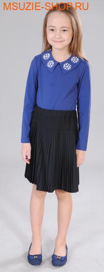 Милашка Сьюзи блузка. 128 синий ростБлузки<br><br>