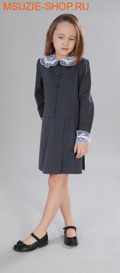 Милашка Сьюзи платье. 128 тем.серый ростПлатья/фартуки <br><br>