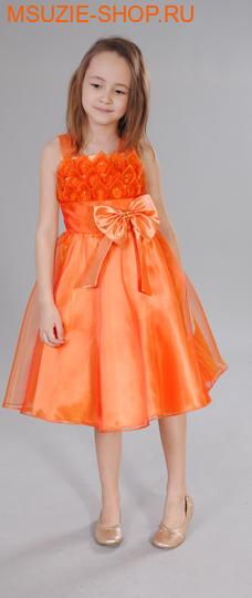 Милашка Сьюзи платье. 128 оранж ростНарядные платья <br><br>