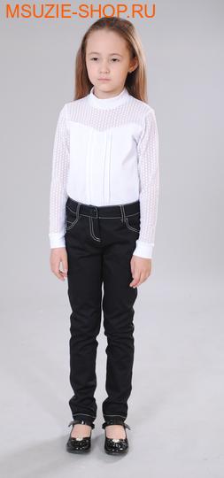 Милашка Сьюзи брюки. 110 черный (молоч) ростБрюки, юбки  <br><br>