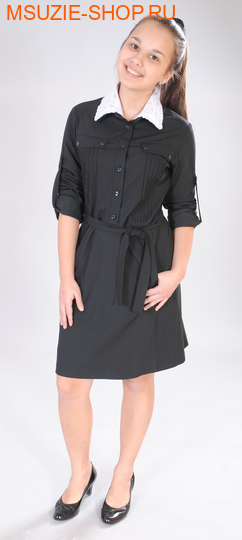 Милашка Сьюзи платье. 122 черный ростПлатья/фартуки <br><br>