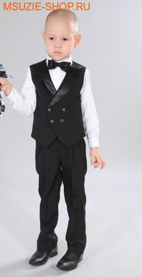 Милашка Сьюзи жилет+брюки+бабочка. 104 черный ростНарядная одежда<br><br>