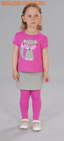 Милашка Сьюзи блузка+юбка-лосины. 104 тем.розовый ростКомплекты<br><br>