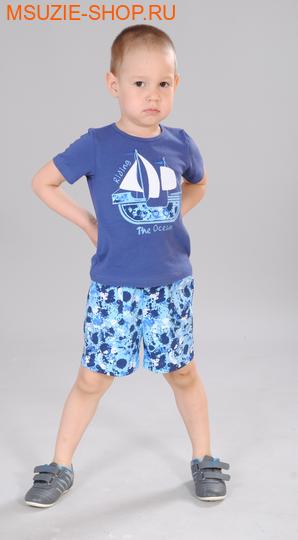 Милашка Сьюзи футболка+шорты. 104 синий ростКостюмы <br><br>