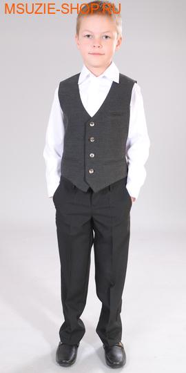 Милашка Сьюзи жилет. 122 тем.серый ростнарядная одежда<br><br>