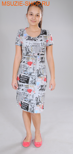 Милашка Сьюзи платье. 40/164 серый ростПлатья <br><br>