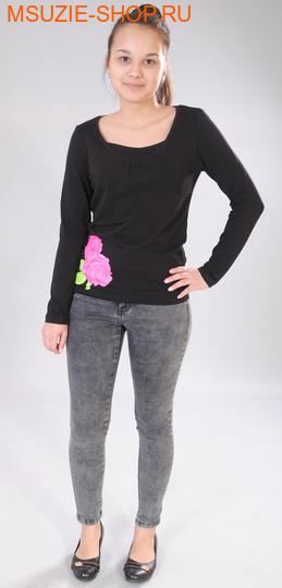 Милашка Сьюзи блузка. 42/164 черный ростДжемпера, рубашки, кофты<br><br>
